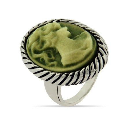 Cameo Ring with Cable Edging | Eve's Addiction®