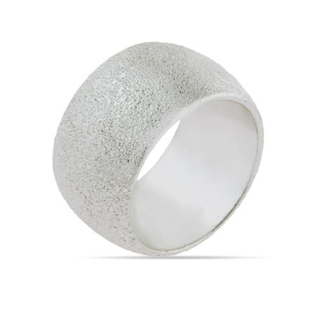 Engravable 13 MM Frosted Silvertone Band | Eve's Addiction®