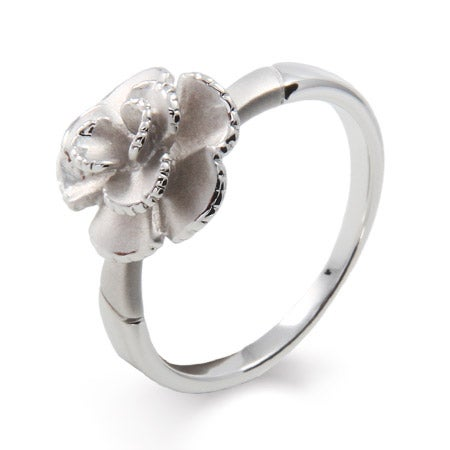 Delicate Frosted Rose Ring | Eve's Addiction®