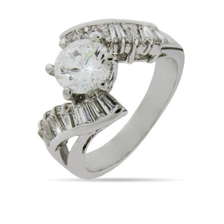 Brilliant Cut CZ Engagement Ring | Eve's Addiction®