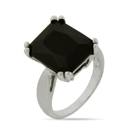 Emerald Cut Onyx Cocktail Ring | Eve's Addiction®