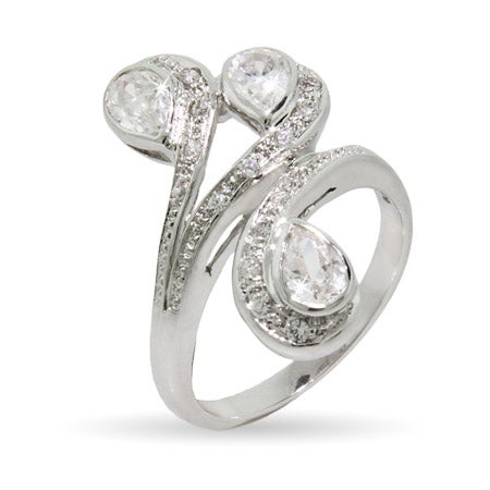 Triple Pear Shaped CZ Right Hand Ring | Eve's Addiction®