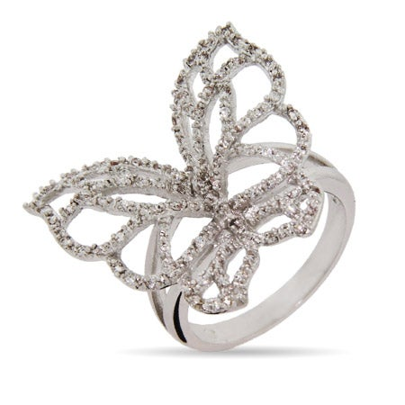 Fluttering Butterfly CZ Ring | Eve's Addiction®