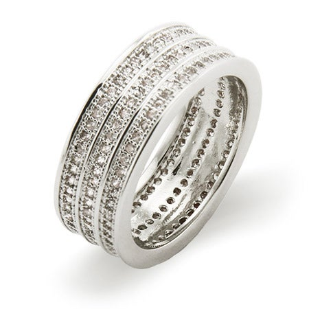 Stunning Triple Row Micro CZ Band | Eve's Addiction®
