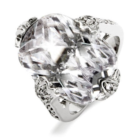 Glamorous Cushion CZ Engagment Ring | Eve's Addiction®
