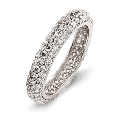 Beautiful Sparkling Pave CZ Eternity Band | Eve's Addiction®