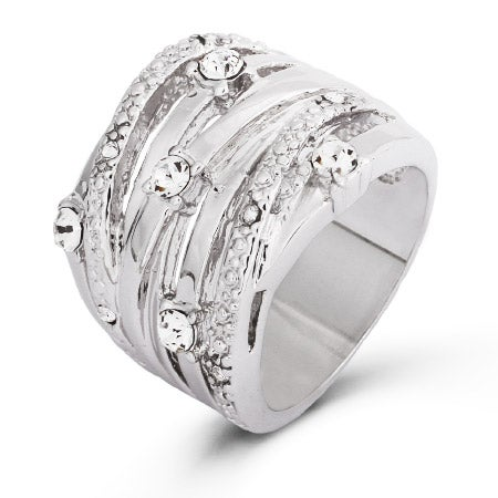 Seven Band CZ Highway Ring | Eve's Addiction®