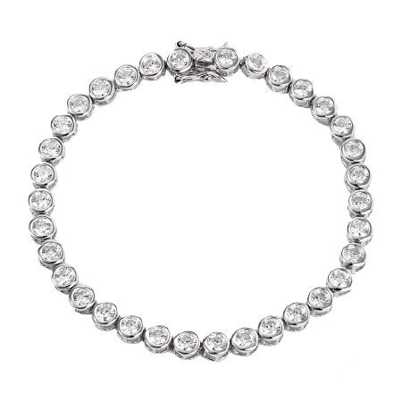 Sterling Silver CZ Bubbles Tennis Bracelet | Eve's Addiction®