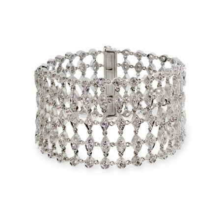 5 Row Cubic Zirconia Glam Bracelet | Eve's Addiction