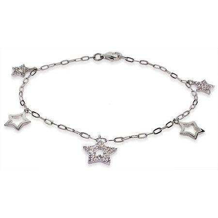 Sparkling CZ Star Charm Bracelet