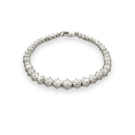 Stunning Graduated Brilliant Cut CZ Tennis Bracelet | Eve's Addiction®