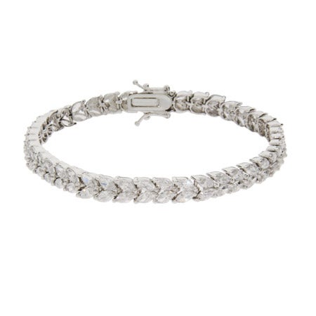 Elegant Double Row Marquise CZ Tennis Bracelet | Eve's Addiction®