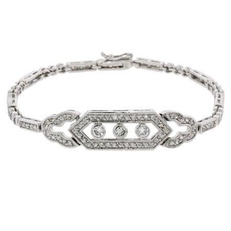 Deco Vintage Style CZ Tennis Bracelet | Eve's Addiction®