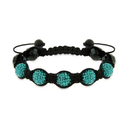 Blue Beaded Shamballa Style Bracelet | Eve's Addiction