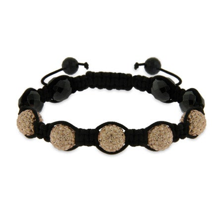 Champagne Austrian Crystal Shamballa Inspired Bracelet | Eve's Addiction®