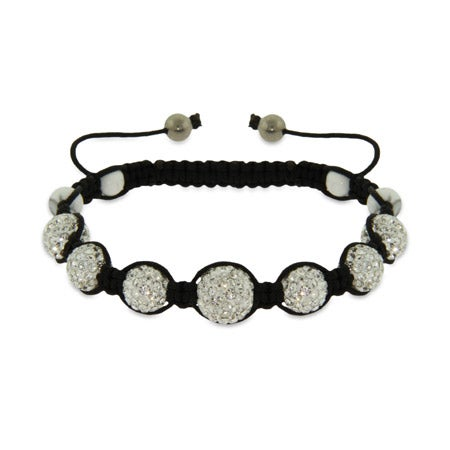 Sparkling Diamond Austrian Crystal Shamballa Style Bracelet | Eve's Addiction®