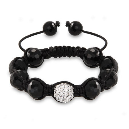 Austrian Crystal and Disco Balls Shamballa Inspired Bracelet | Eve's Addiction®