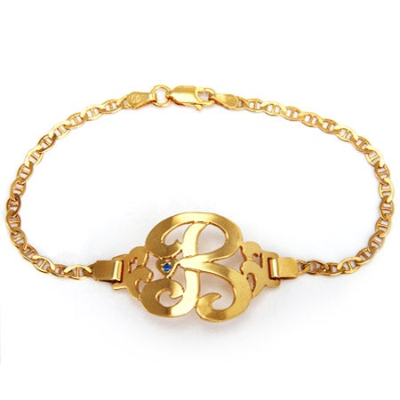 Initial Birthstone Gold Vermeil Bracelet | Eve's Addiction®