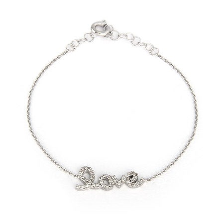Sterling Silver CZ Petite Love Bracelet | Eve's Addiction®