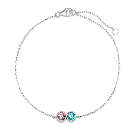 2 CZ Personalized Birthstone Bracelet | Eve's Addiction
