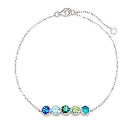 Custom 5 Stone Birthstone Bracelet | Eve's Addiction