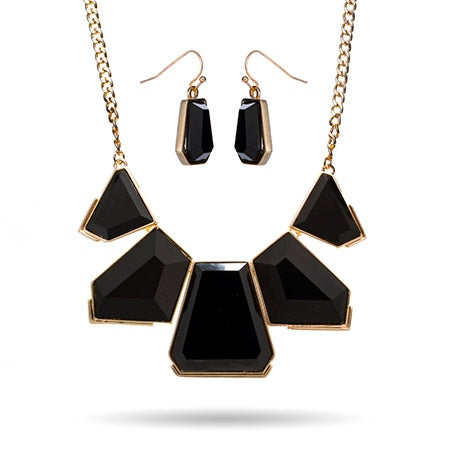 Black Geometric Collar Necklace | Eve's Addiction®