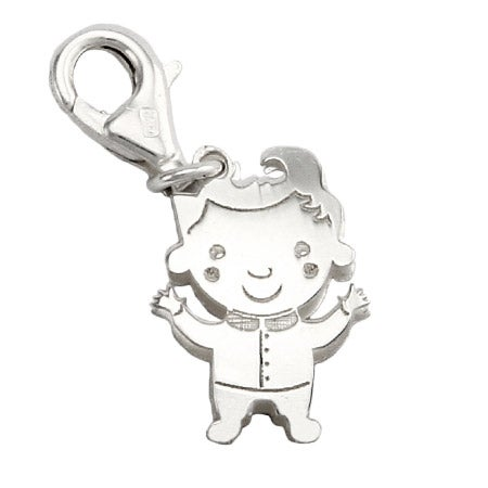 Sterling Silver Happy Boy Charm
