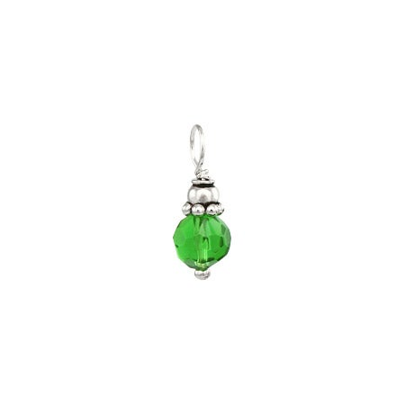 Emerald May Birthstone Sterling Silver Charm | Eve's Addiction