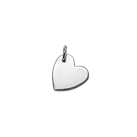 Sideways Heart Silver Charm