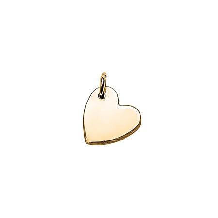 Sideways Heart Gold Charm