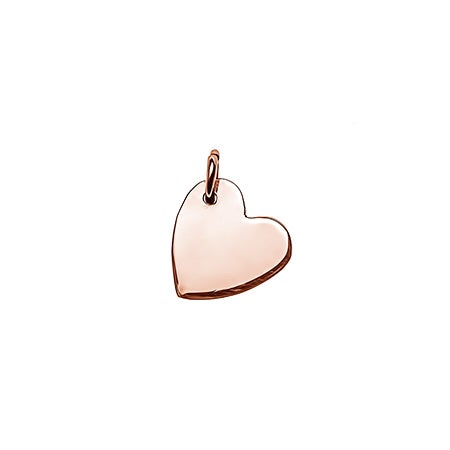 Sideways Heart Rose Gold Charm