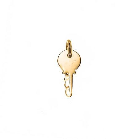 Petite Key Gold Charm