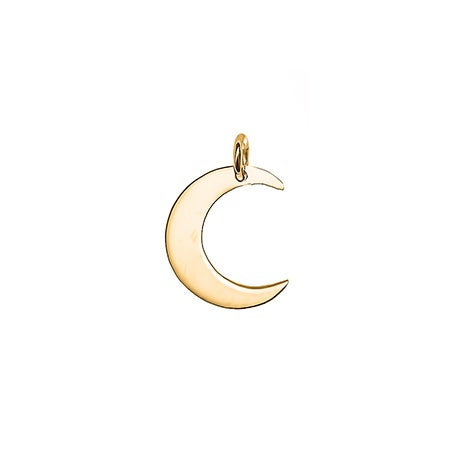 Crescent Moon Gold Charm