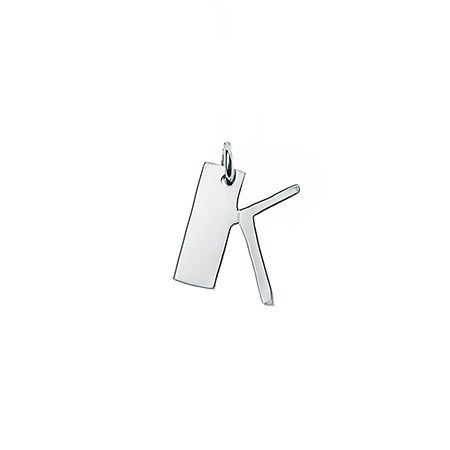 Personalized Initial Silver Charm