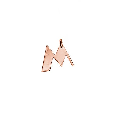 Personalized Initial Rose Gold Charm