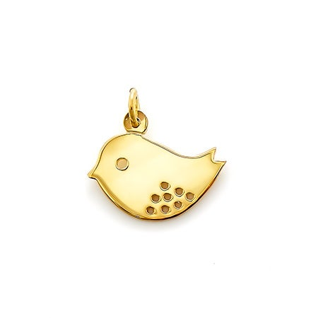 Momma Bird Gold Charm