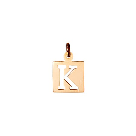 Rose Gold Cut Out Initial Charm