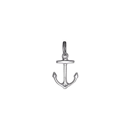 Petite Anchor Charm in Silver