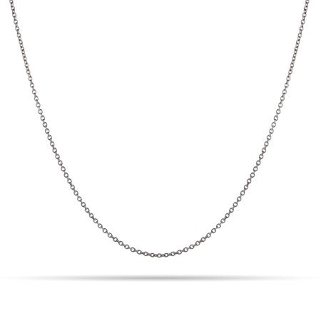 Sterling Silver Rolo Rhodium Chain