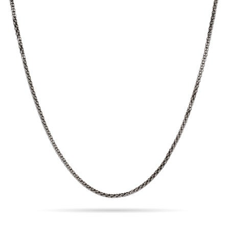 Sterling Silver Rhodium Popcorn Chain