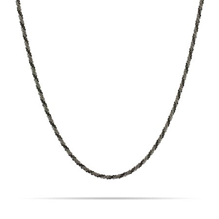 Diamond Cut Black Rhodium Silver Twist Chain