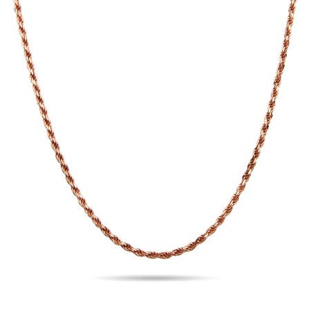 Rose Gold Plated Rope Chain
