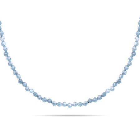 Aquamarine Stone Beaded Chain
