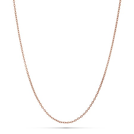 Rose Gold Rolo Charm Chain | Eve's Addiction