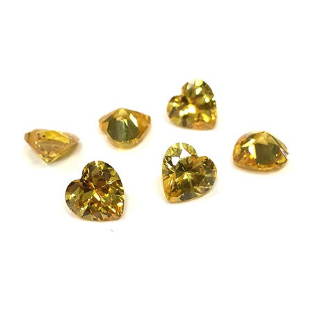 Package of 50 November Citrine Heart 8mm Stones