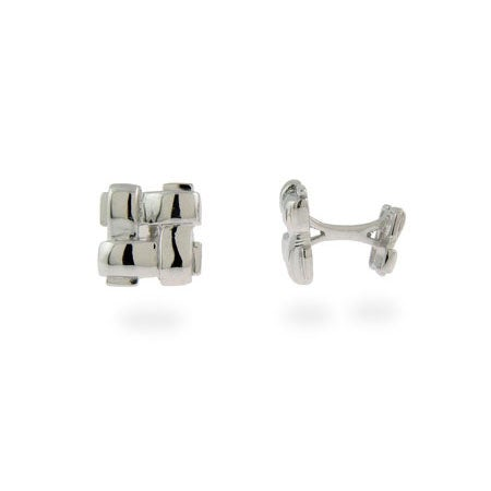 Designer Style Sterling Silver Woven Cuff Links | Eve's Addiction®