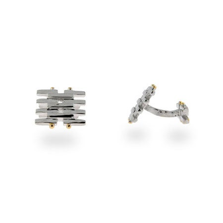 Tiffany Style Sterling Silver Gatelink Cufflinks | Eve's Addiction