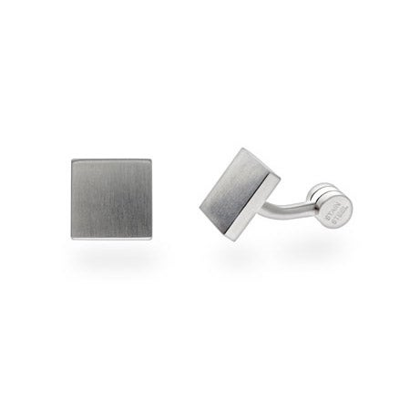 Men's Engravable Square Stainless Steel Cufflinks