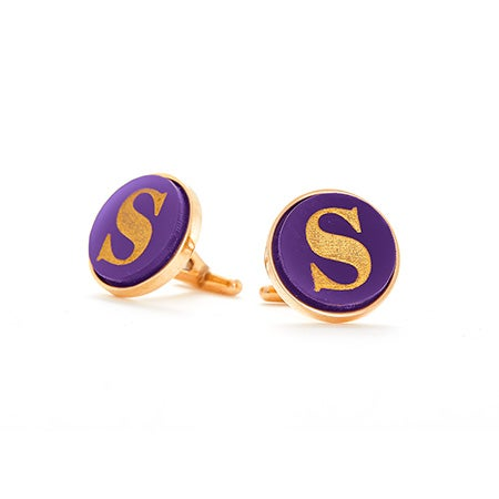 Single Initial Acrylic Cufflinks | Eve's Addiction®