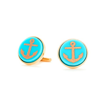 Nautical Anchor Acrylic Cufflinks | Eve's Addiction®